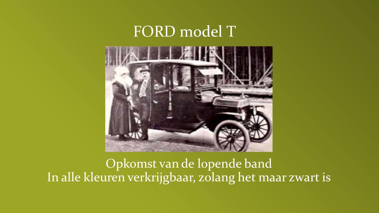 FORD model T Opkomst van de lopende band