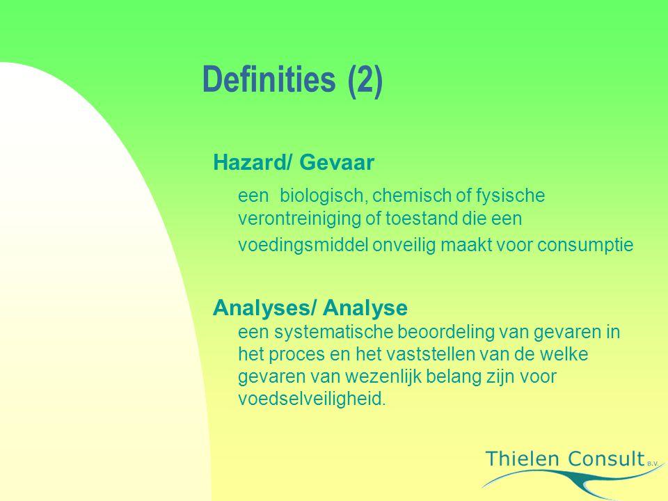 Definities (2) Hazard/ Gevaar