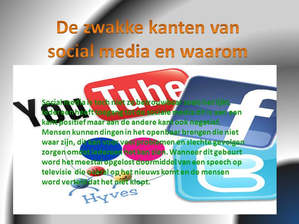De zwakke kanten van social media en waarom