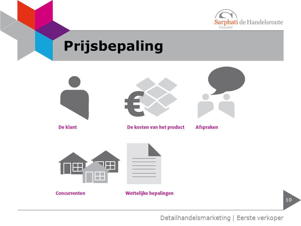 Prijsbepaling Detailhandelsmarketing | Eerste verkoper