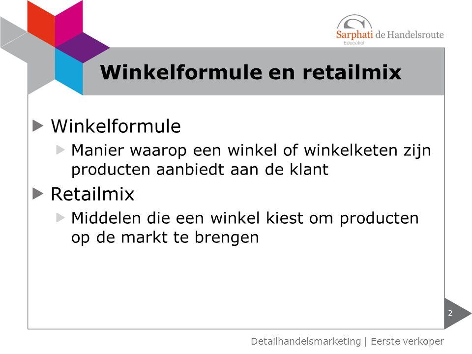 Winkelformule en retailmix