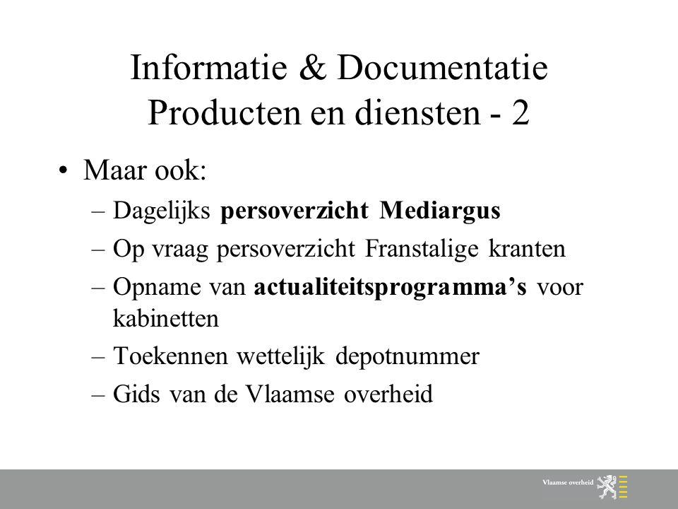 Informatie & Documentatie Producten en diensten - 2