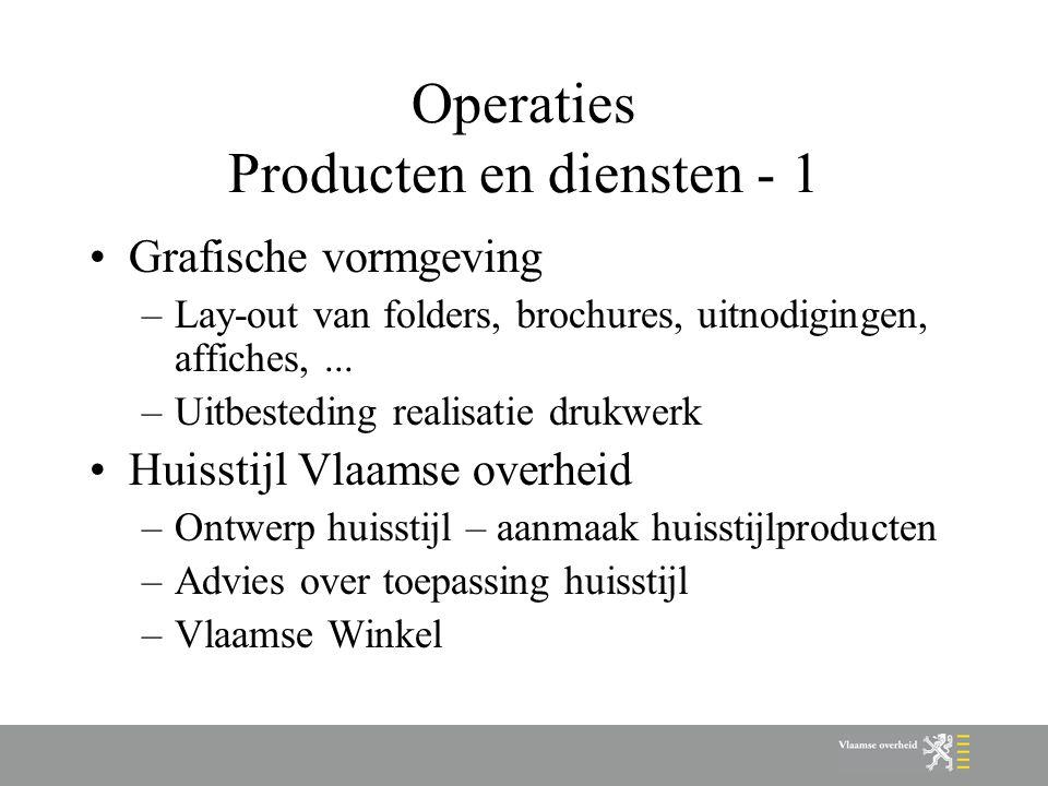 Operaties Producten en diensten - 1