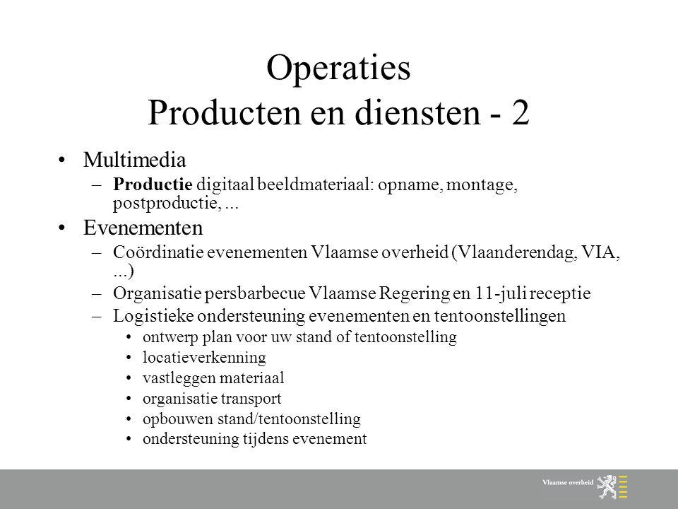 Operaties Producten en diensten - 2
