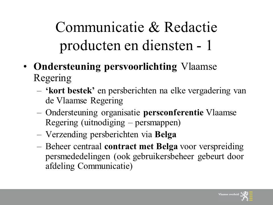 Communicatie & Redactie producten en diensten - 1
