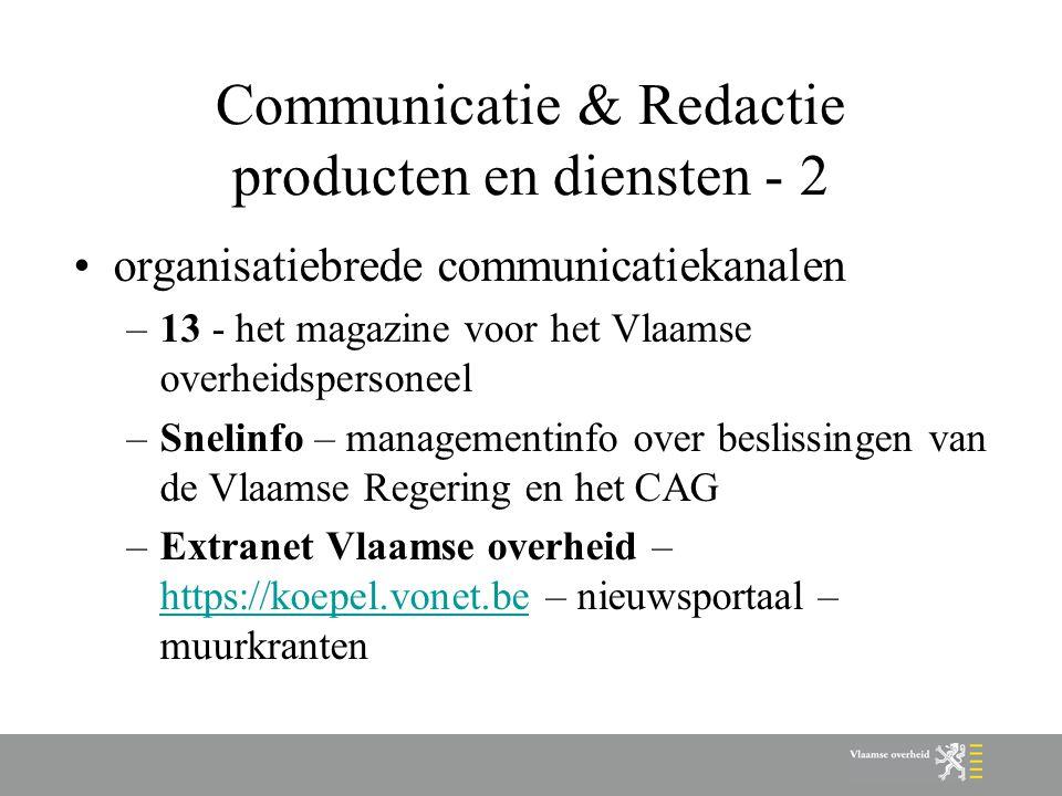 Communicatie & Redactie producten en diensten - 2