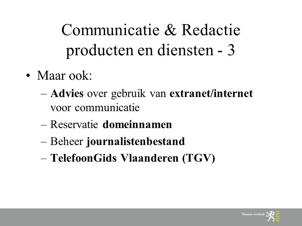 Communicatie & Redactie producten en diensten - 3