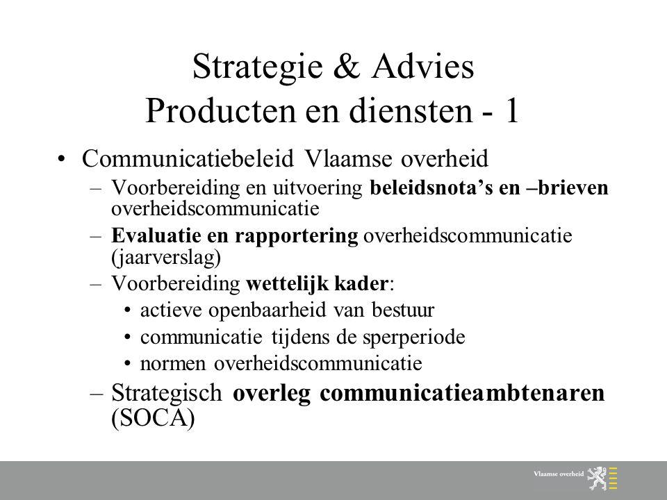 Strategie & Advies Producten en diensten - 1
