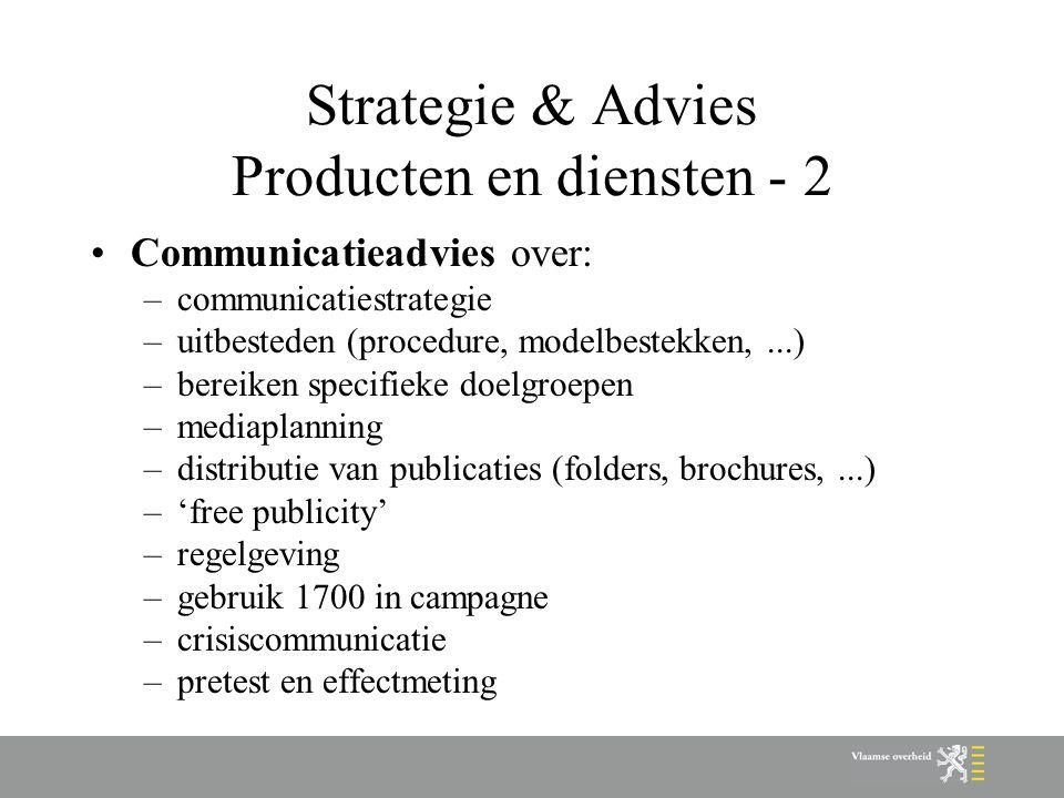 Strategie & Advies Producten en diensten - 2