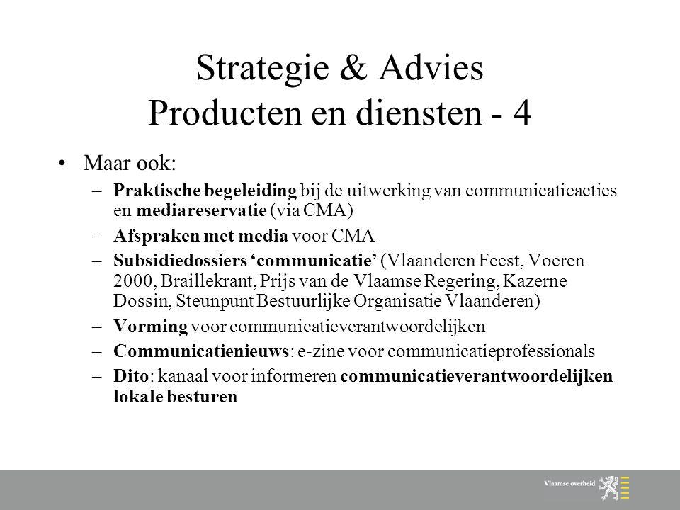 Strategie & Advies Producten en diensten - 4