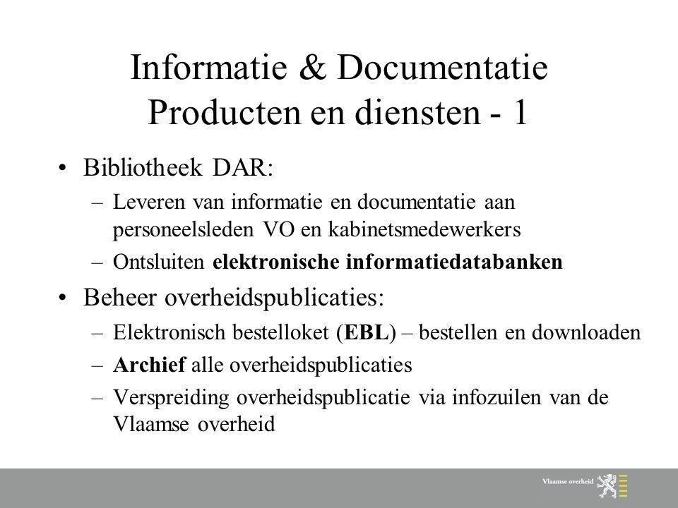 Informatie & Documentatie Producten en diensten - 1