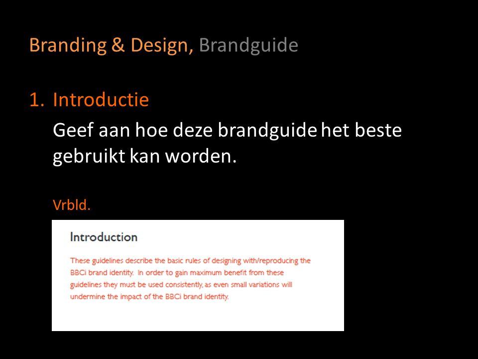 Branding & Design, Brandguide
