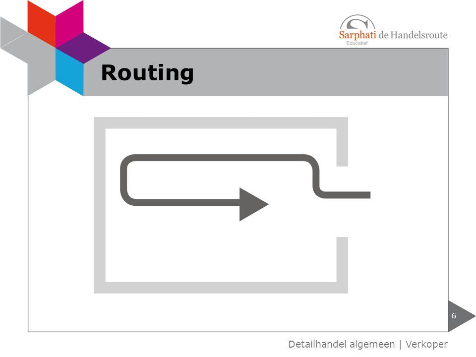 Routing Detailhandel algemeen | Verkoper