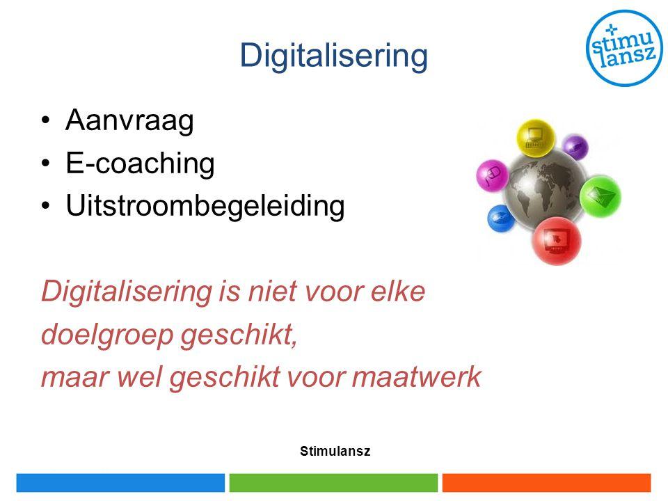 Digitalisering Aanvraag E-coaching Uitstroombegeleiding