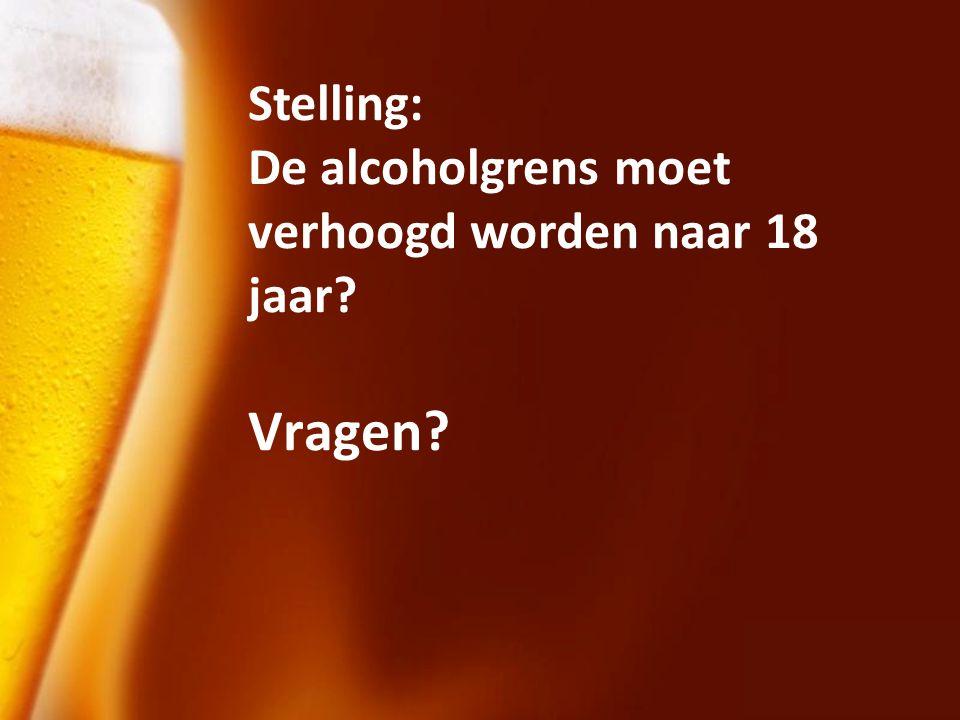 Stelling: De alcoholgrens moet verhoogd worden naar 18 jaar