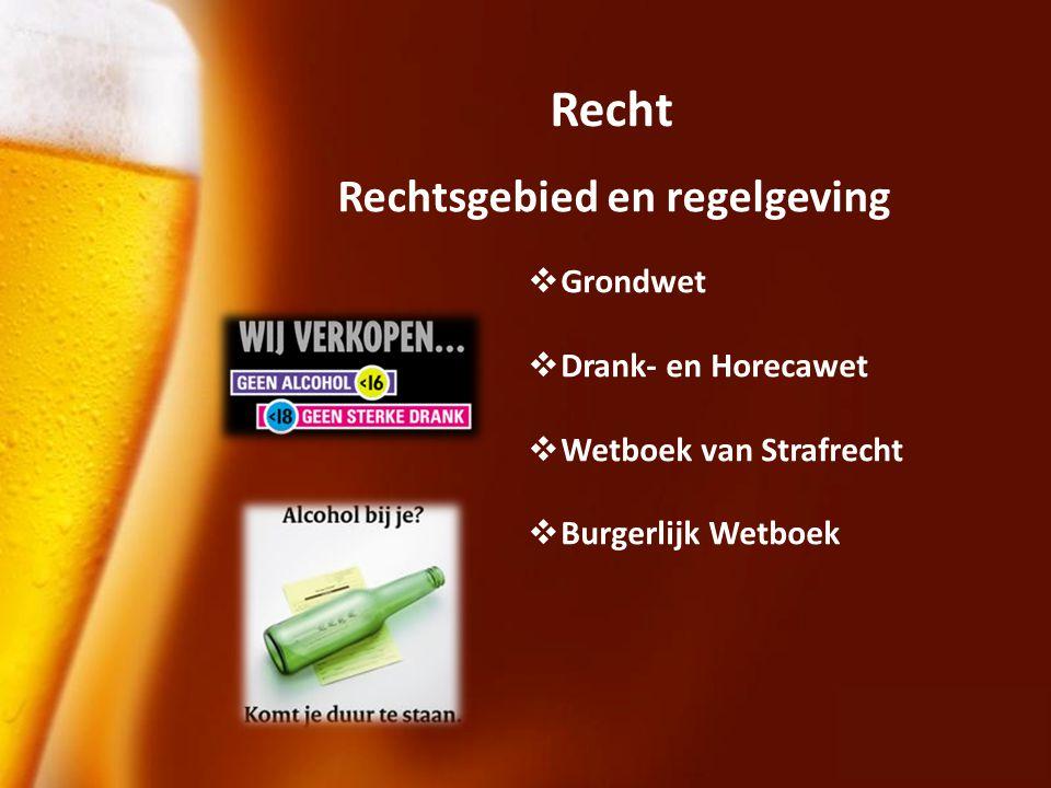 Recht Rechtsgebied en regelgeving Grondwet Drank- en Horecawet