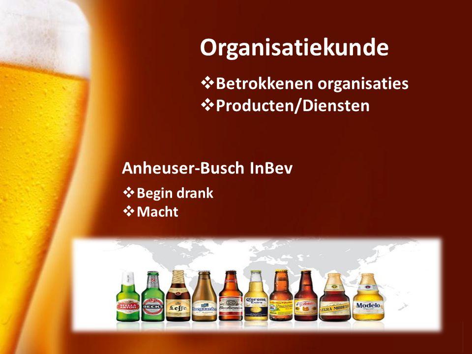 Organisatiekunde Betrokkenen organisaties Producten/Diensten