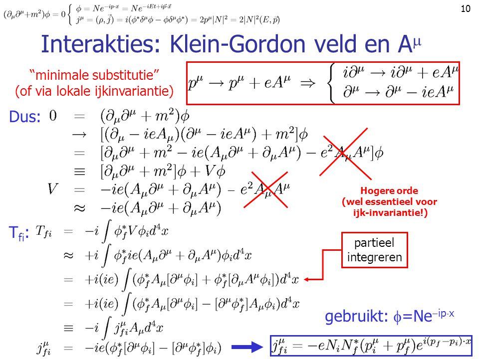Interakties: Klein-Gordon veld en A