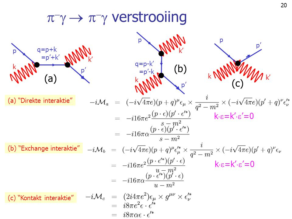    verstrooiing (b) (a) (c) k=k''=0 k=k''=0