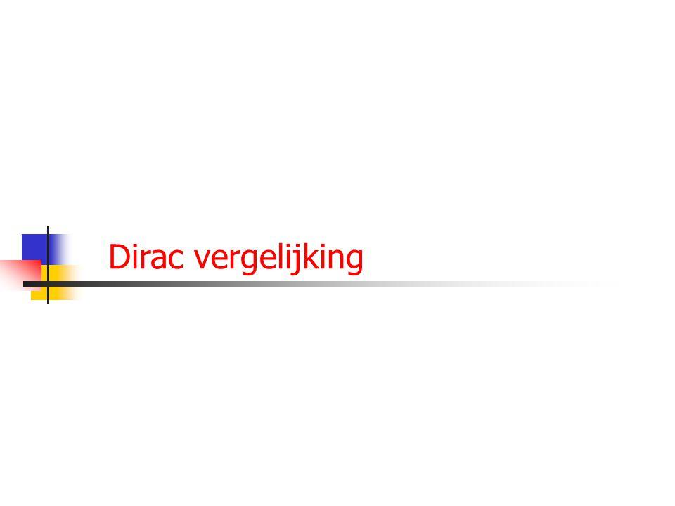 Dirac vergelijking