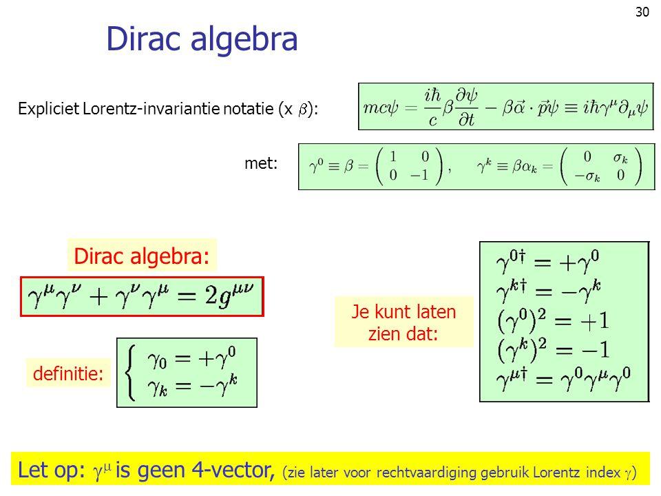 Dirac algebra Dirac algebra: