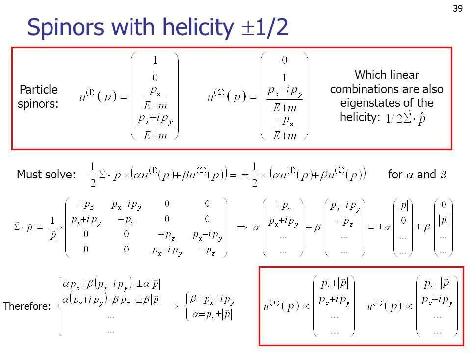 Spinors with helicity 1/2
