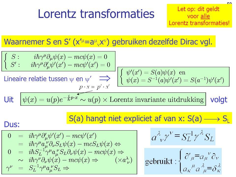 Lorentz transformaties