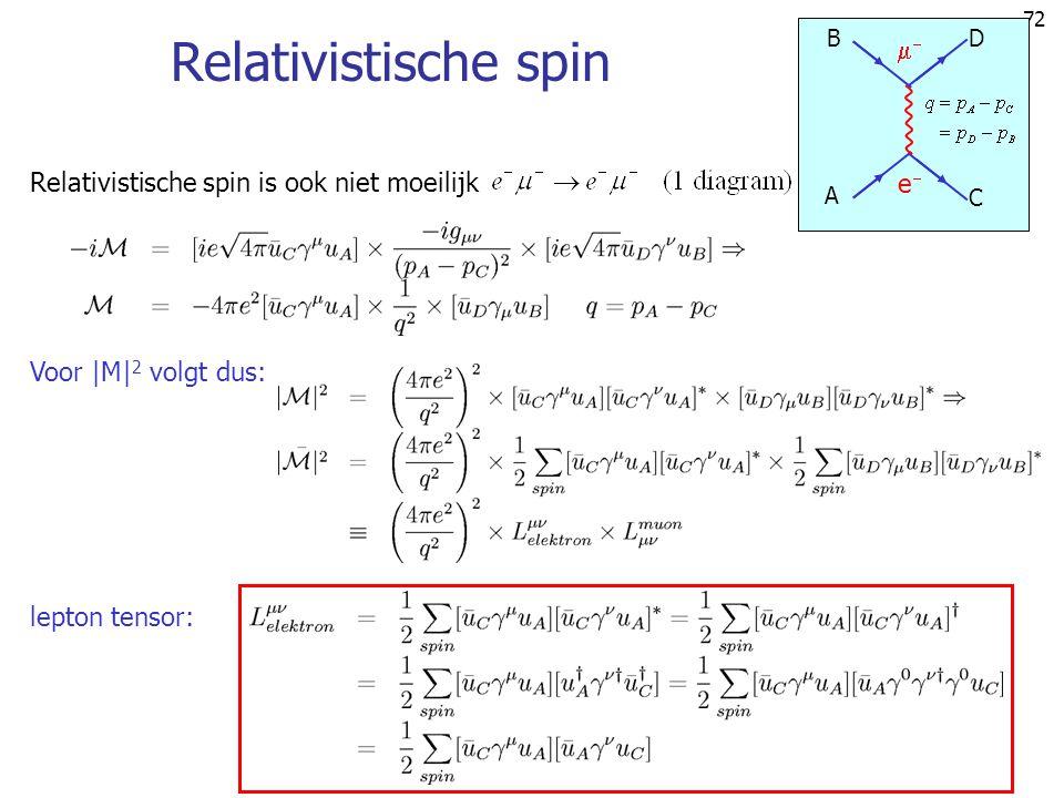 Relativistische spin  Relativistische spin is ook niet moeilijk e