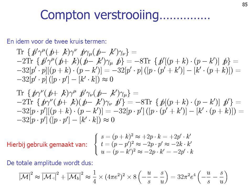 Compton verstrooiing……………