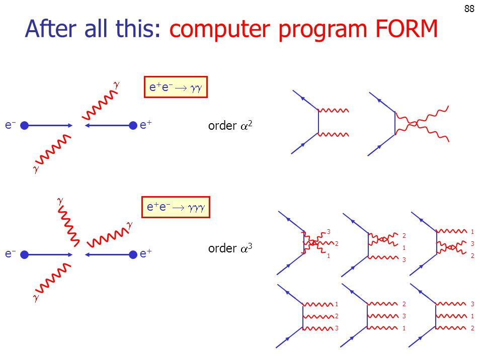 After all this: computer program FORM
