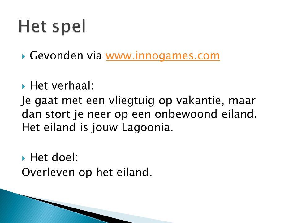 Het spel Gevonden via www.innogames.com Het verhaal: