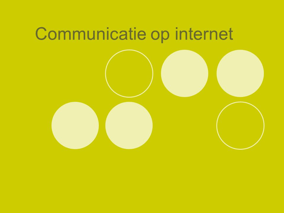 Communicatie op internet
