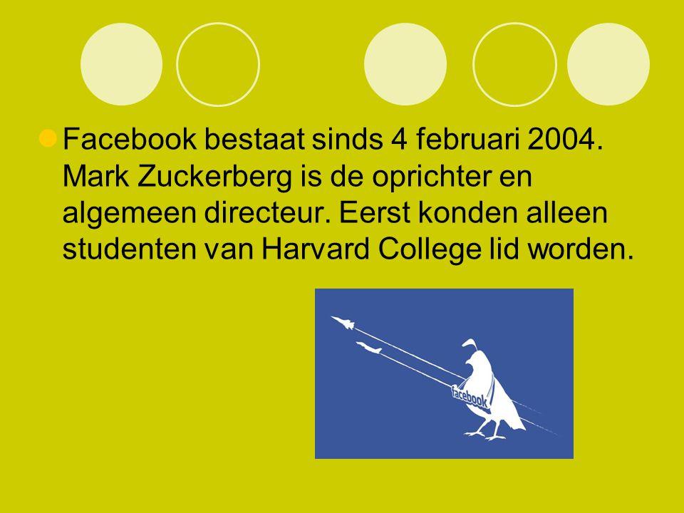 Facebook bestaat sinds 4 februari 2004