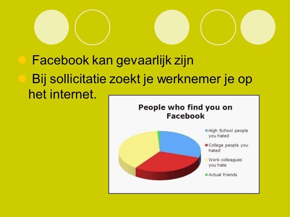 Facebook kan gevaarlijk zijn