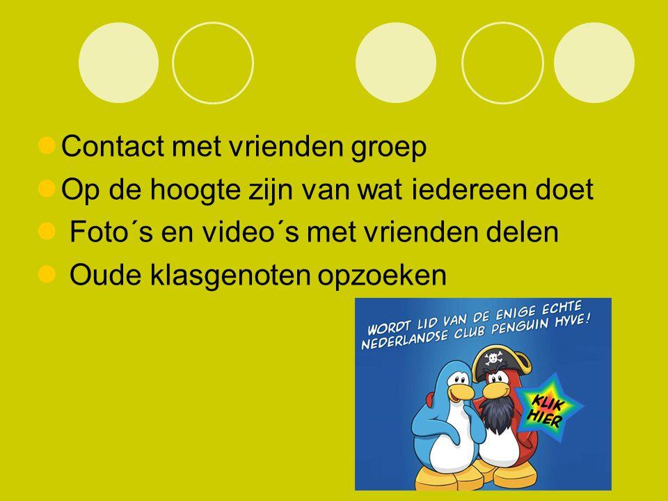 Contact met vrienden groep