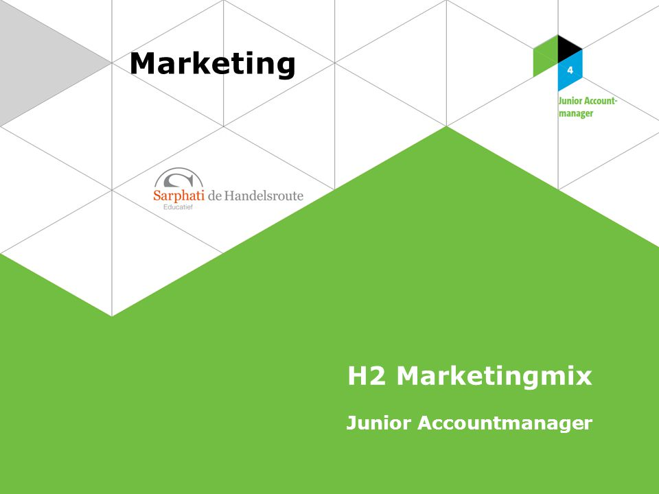 Marketing H2 Marketingmix Junior Accountmanager