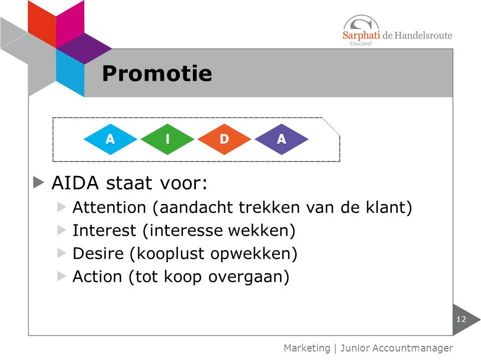 Promotie AIDA staat voor: Attention (aandacht trekken van de klant)