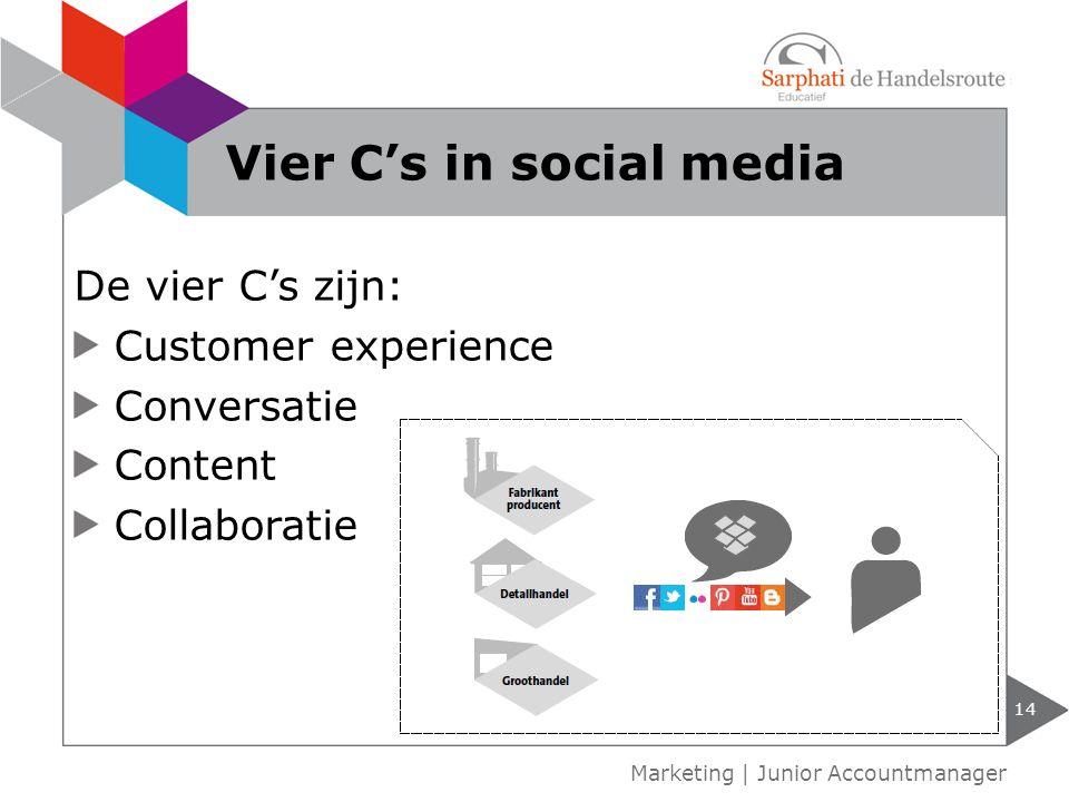Vier C's in social media