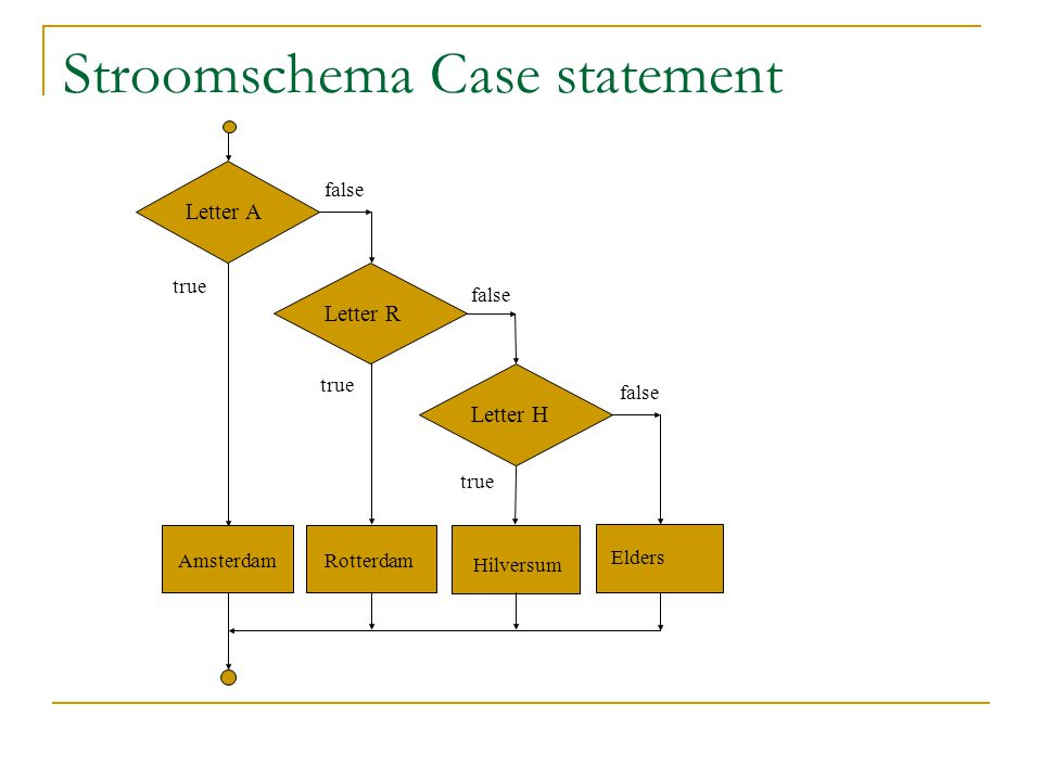 Stroomschema Case statement