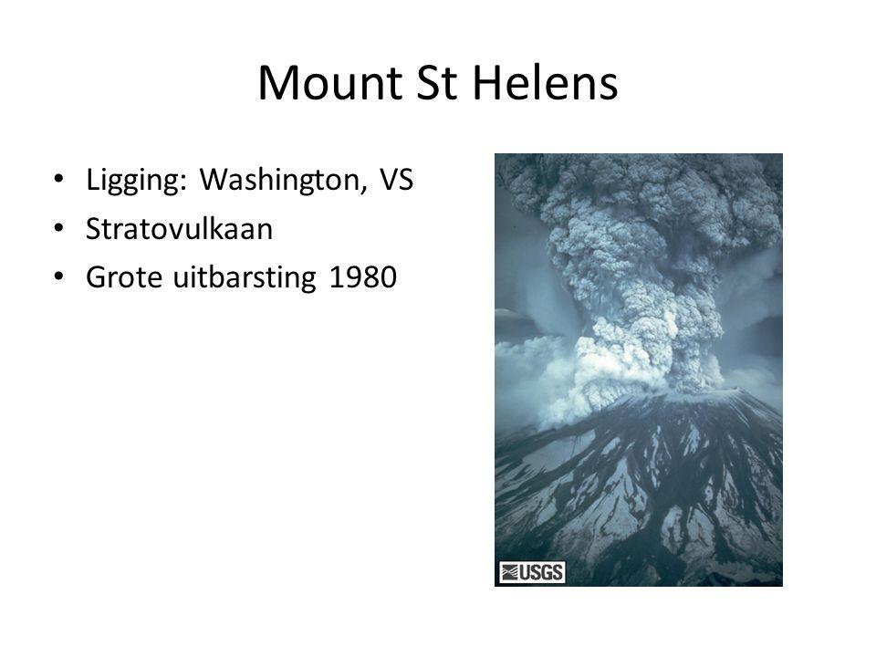 Mount St Helens Ligging: Washington, VS Stratovulkaan