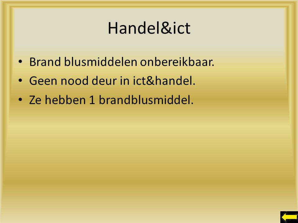 Handel&ict Brand blusmiddelen onbereikbaar.