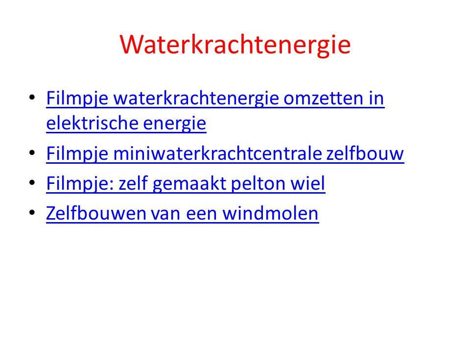 Waterkrachtenergie Filmpje waterkrachtenergie omzetten in elektrische energie. Filmpje miniwaterkrachtcentrale zelfbouw.