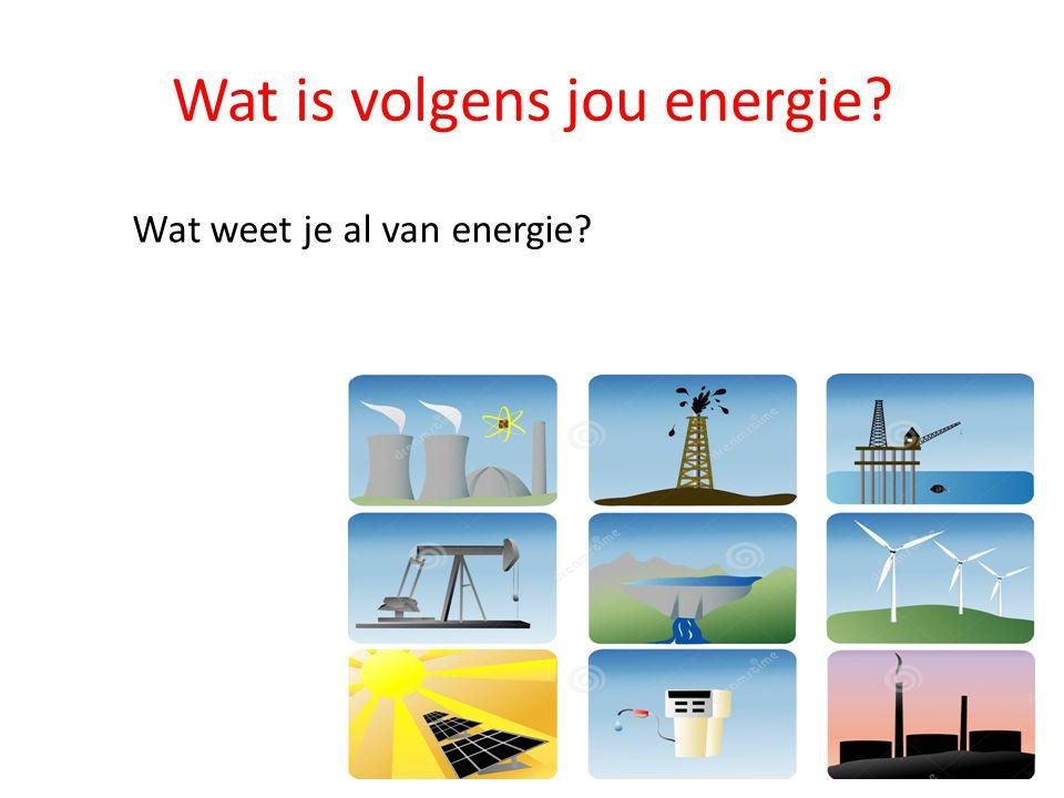 Wat is volgens jou energie