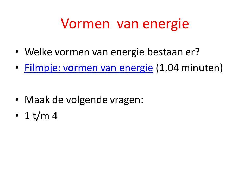 Vormen van energie Welke vormen van energie bestaan er