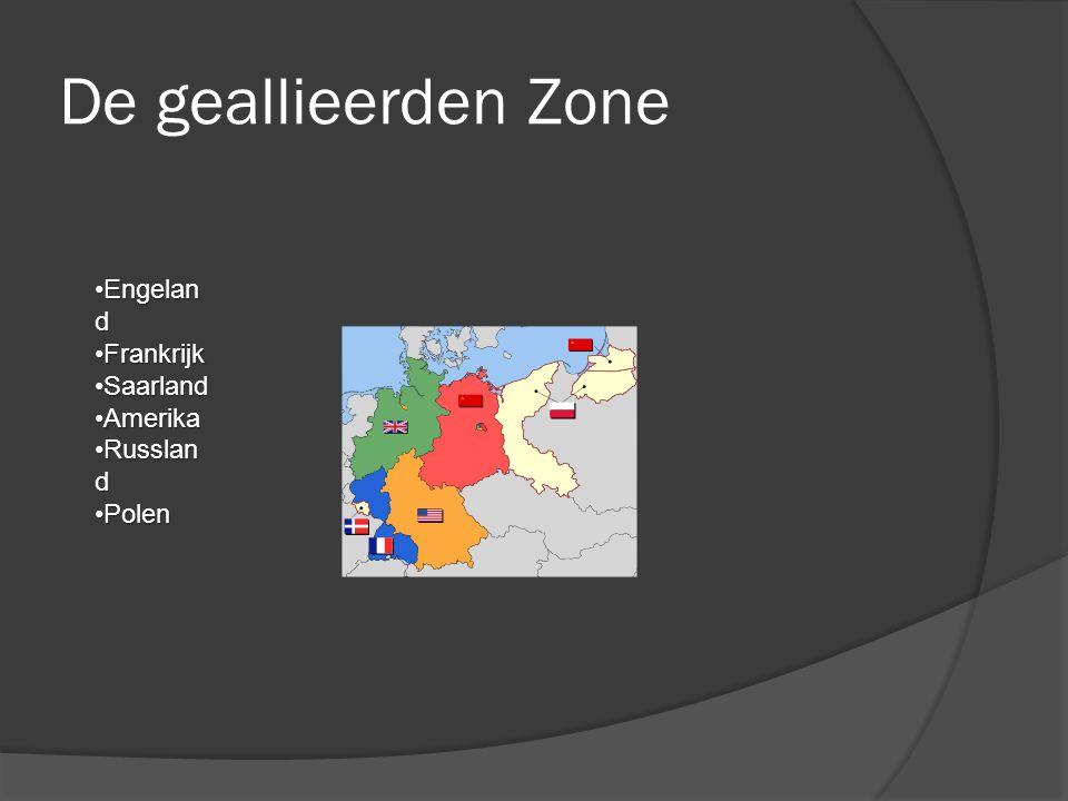 De geallieerden Zone Engeland Frankrijk Saarland Amerika Russland