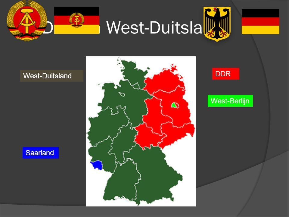 DDR en West-Duitsland DDR West-Duitsland West-Berlijn Saarland