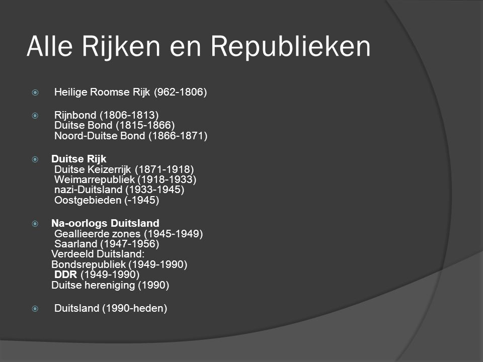 Alle Rijken en Republieken