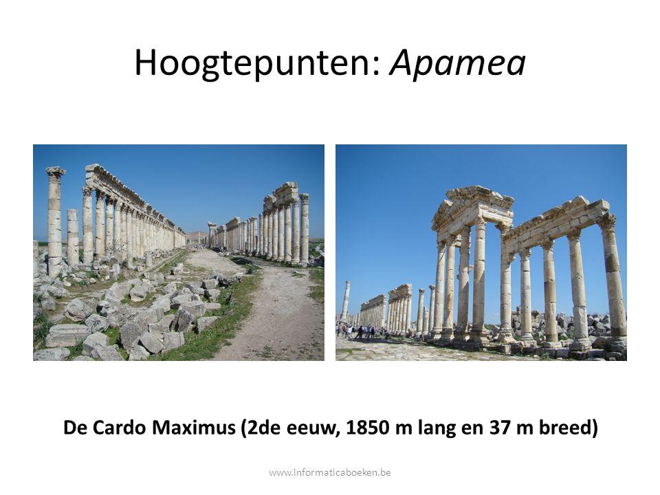 De Cardo Maximus (2de eeuw, 1850 m lang en 37 m breed)