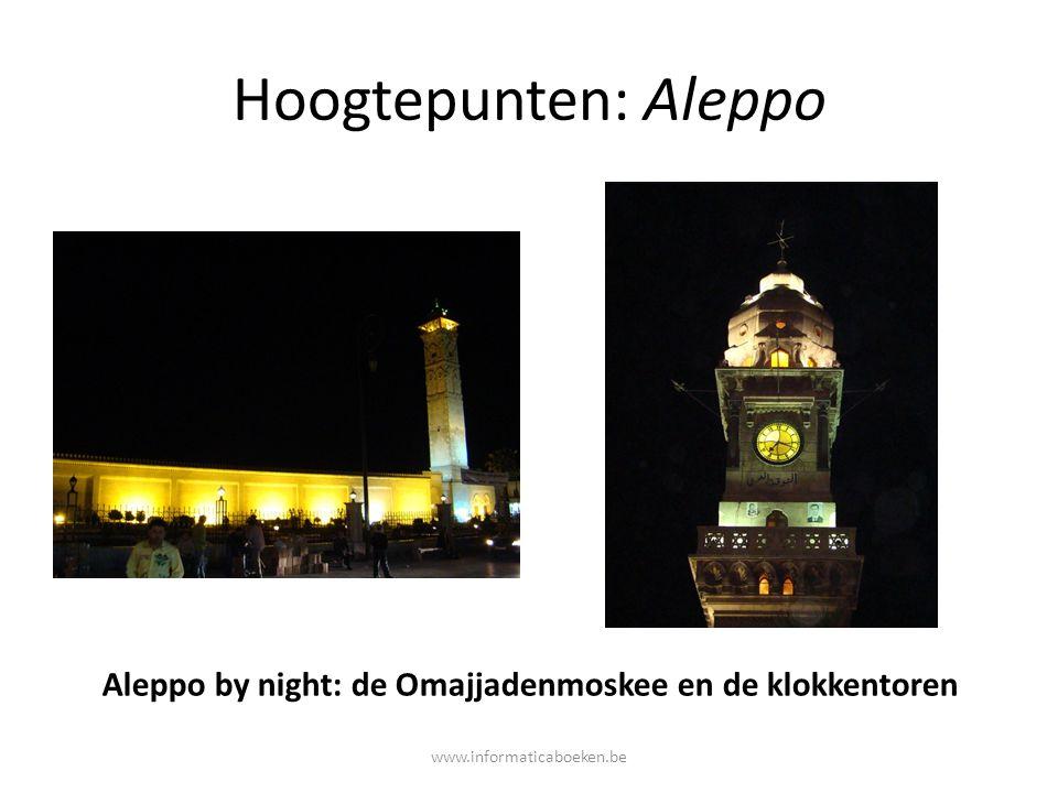 Aleppo by night: de Omajjadenmoskee en de klokkentoren