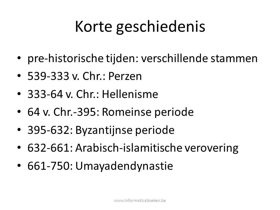Korte geschiedenis pre-historische tijden: verschillende stammen